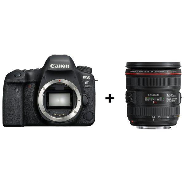Canon EOS 6D Mark II DSLR Camera Black With EF 24-70mm f/4L IS USM Lens Kit