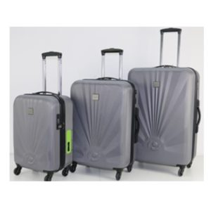 b1d6ac560ea6 Princess Travellers GENEVA Luggage Trolley Bag With Built in Scale & Power  Bank Silver Set Of