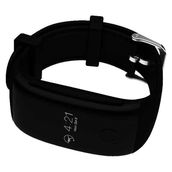 Eklasse Sports Bracelet With Heart Rate Monitor Black - EKSB03AR