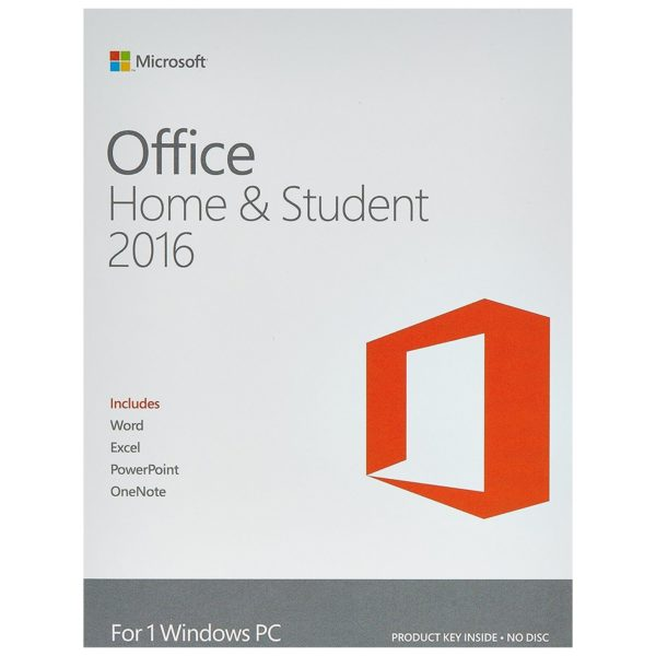 Microsoft 79G04292 Office Home & Student Software 2016 Online Product Key License *Offer Applicable On Purchase of Laptop/Tablet only