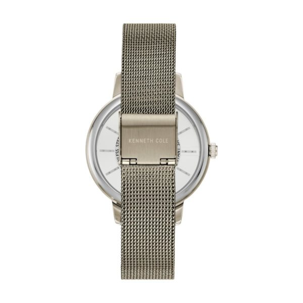Kenneth Cole Transparency Watch For Women with Warm Silver Stainless Steel Bracelet