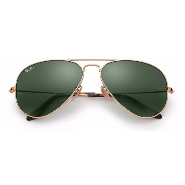 Ray-Ban Unisex Sunglasses Green Classic G15/Gold Frame - RB34470001