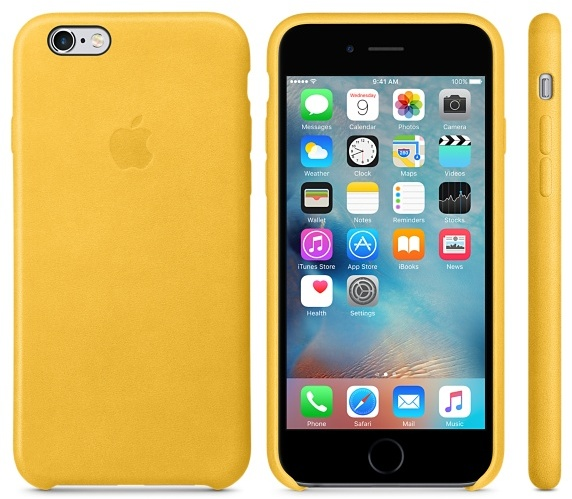 big sale ca4f6 4e011 Buy Apple Leather Case Marigold For iPhone 6S – MMM22ZM/A – Price ...