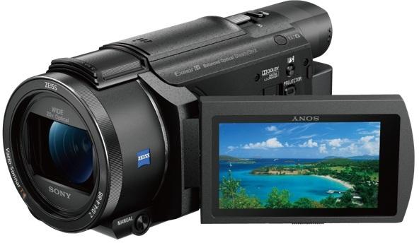 Sony FDR-AXP55 4K Handycam with Built-in projector Camcorder Black