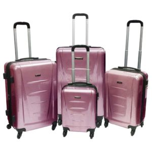 d1772f26b2df2 Highflyer Inspire Trolley Luggage Bag Pink 4pc Set TH1614PPC4PC