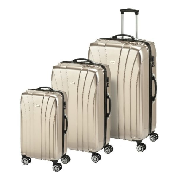 Princess Travellers JAMAICA Luggage Trolley Bag Gold Set Of 3