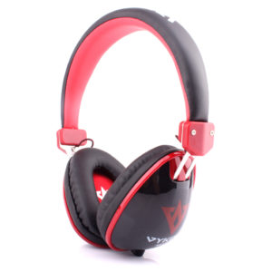Ovleng Vykon Wired Stereo Headphones With Mic Black/Red - MQ11