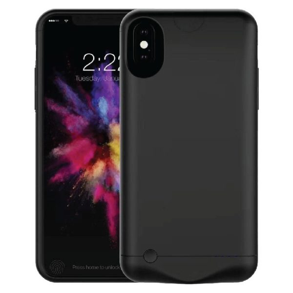 Eklasse Battery Case 5200mAh Black for iPhone X - EKBC04WT