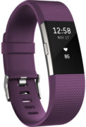 Fitbit Charge 2 Wristband Laryon Plum Silver Small - FB407SPMSEU