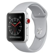 Apple Watch Series 3 GPS + Cellular 38mm Silver Aluminium Case with Fog Sport Band