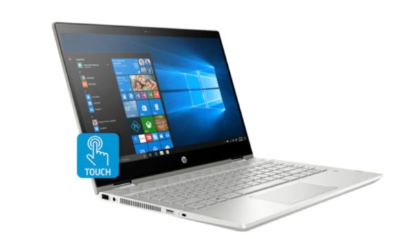 HP Pavilion x360 14-CD0008NE Convertible Touch Laptop - Core i3 2.2GHz 4GB 1TB+16GB Shared Win10 14inch FHD Mineral Silver