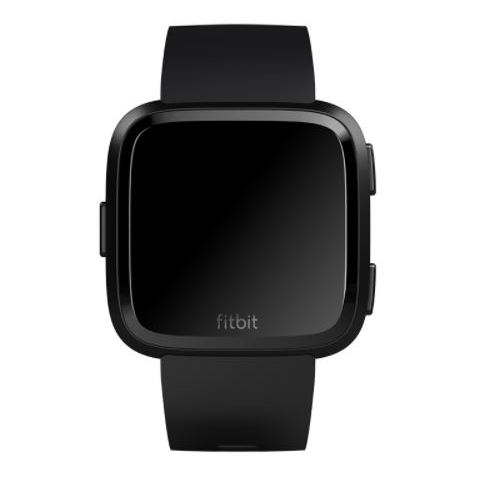 Fitbit Versa Fitness Watch Black/Black Aluminum - FB505GMBKEU
