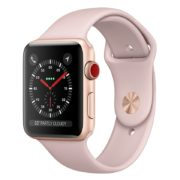Apple Watch Series 3 GPS + Cellular 42mm Gold Aluminium Case with Pink Sand Sport Band