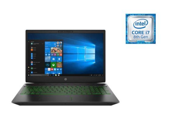 HP Pavilion 15-CX0009NE Gaming Laptop - Core i7 2.2GHz 16GB 1TB+128GB 4GB Win10 15.6inch FHD Shadow Black/Acid Pattern