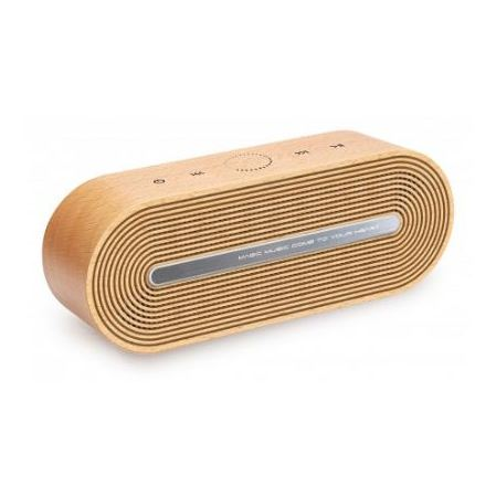 Merlin Timber Tunes Portable Wireless Speaker Brown 92852