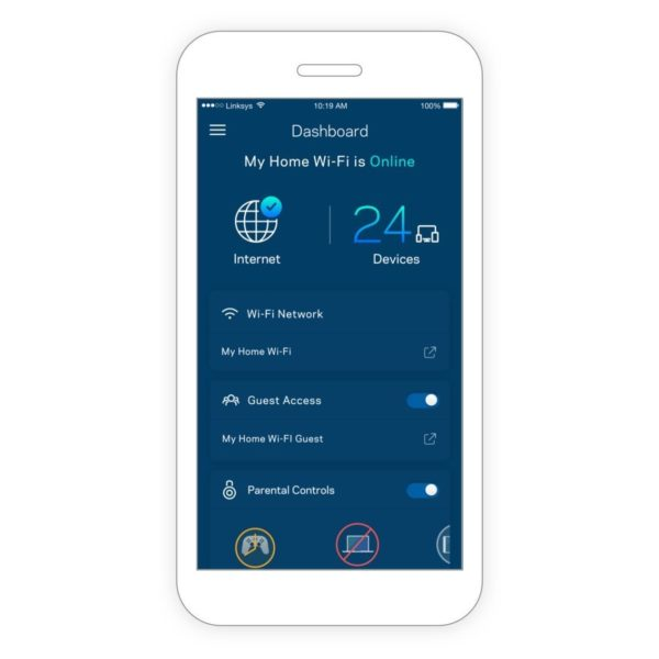 Linksys Velop WHW0102 AC1300 Whole Home Intelligent Mesh WiFi System,  Dual-Band, 2-pack