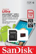 Sandisk SDSQUNC128GGN6MA Ultra Android Micro SD UHS-I Card C10 128GB