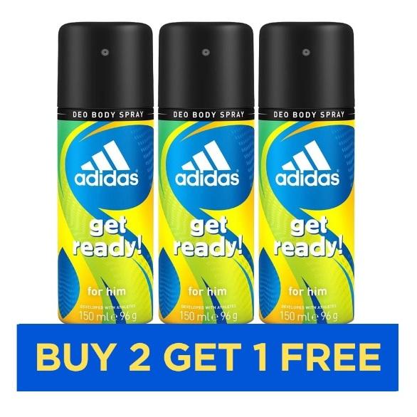 Adidas Get Ready Men 150ml - Buy 2 Get 1 Free