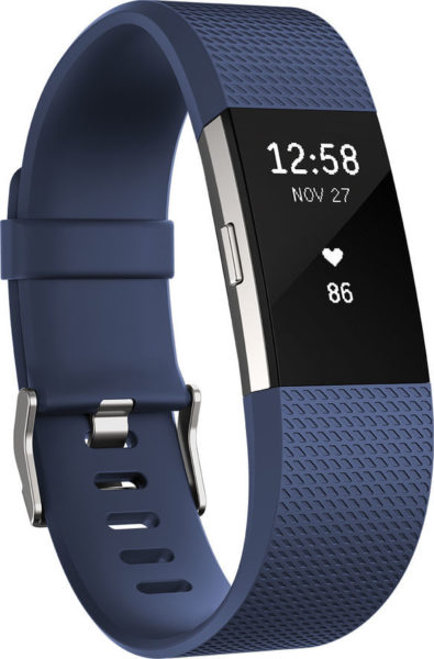 Fitbit Charge 2 Wristband Laryon Blue Silver Small - FB407SBUSEU