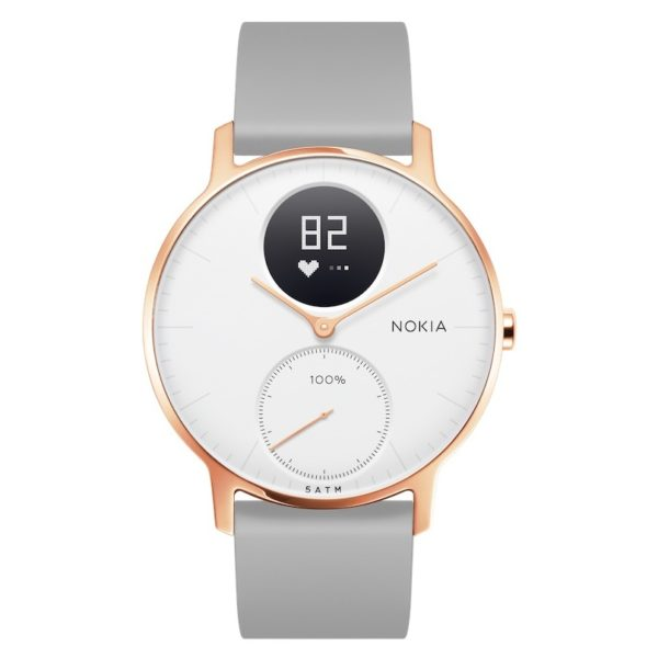 Nokia HWA03 Steel HR Watch 36mm White/Grey