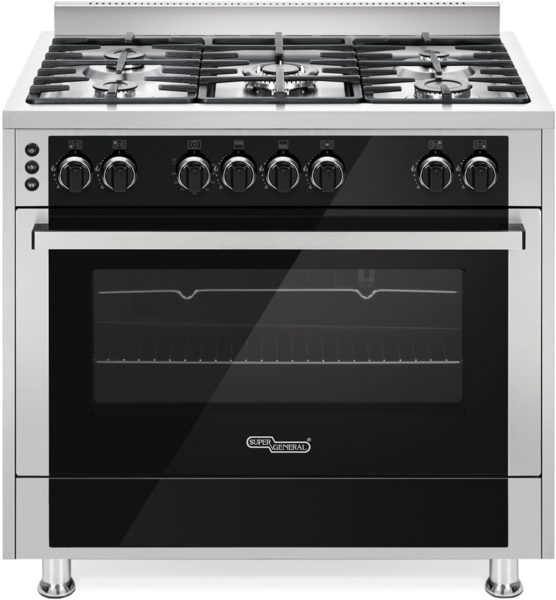 Super General 5 Gas Burners Cooker SGC916FSBGOF