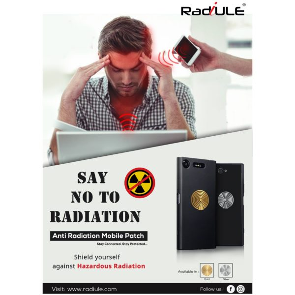 Radiule Mobile Radiation Safety Silver x