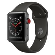Apple Watch Series 3 GPS + Cellular 38mm Space Grey Aluminium Case with Grey Sport Band