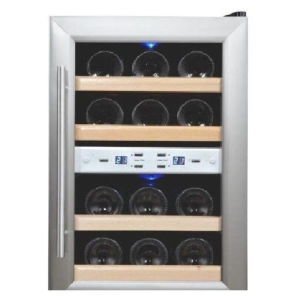 Campomatic CHC12 Cigar Humidor + WBC12DZ Wine Cooler