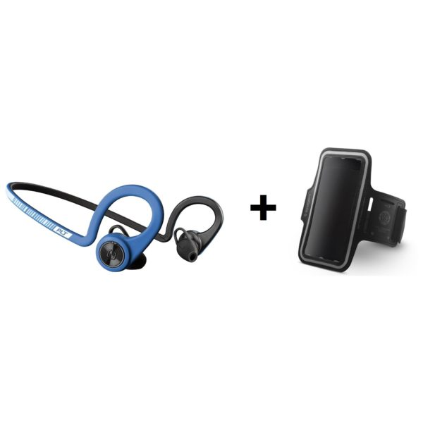 Plantronics 20600108 BackBeat Fit Wireless Water Proof Headset + Spigen A700 Velo Sport Universal Armband