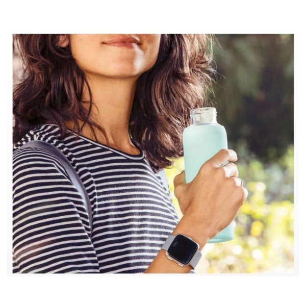 Fitbit Versa Fitness Watch Grey/Silver Aluminum - FB505SRGYEU