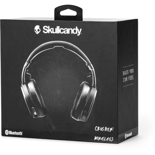 Skullcandy Crusher Wireless Bluetooth Over-Ear Headphone Black/Coral  S6CRWK591
