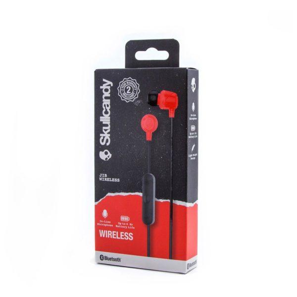 Skullcandy S2DUWK010 JIB Wireless In-Ear Headphones Red + JIB Earbud Wired Earphone