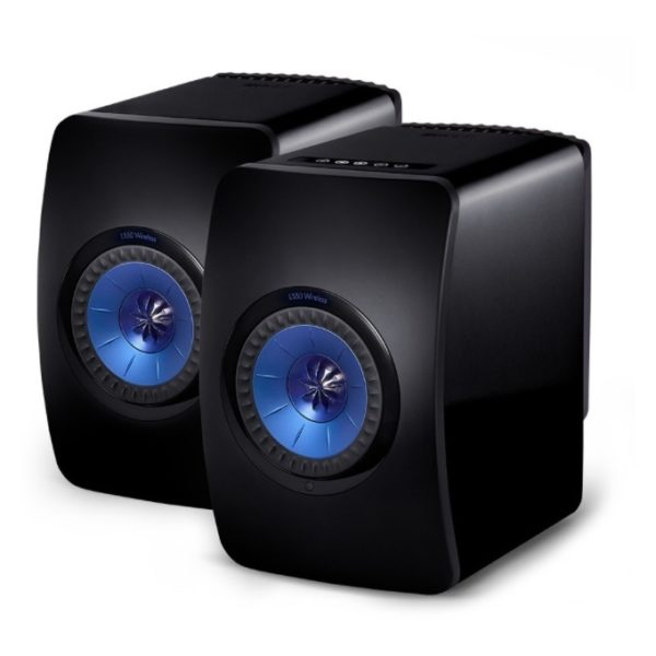 KEF LS50 Wireless Bookshelf Speaker - Black (Pair)