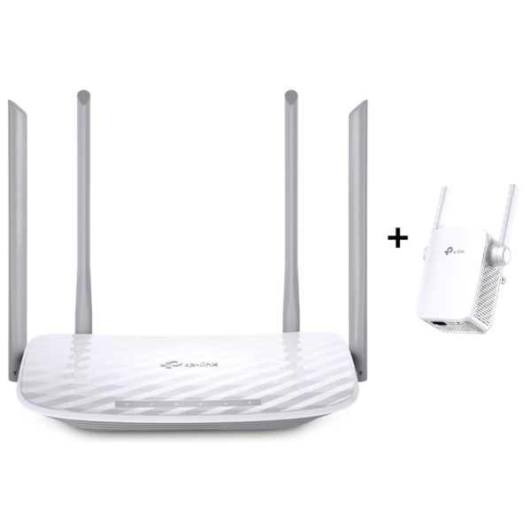 TP-Link Archer C50 AC1200 Wireless Dual Band Router + RE305 Dual-Band AC1200 Wi-Fi Range Extender