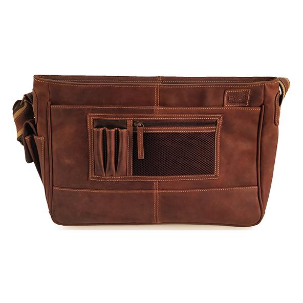 Byond ABBOTTMESS Messenger Bag Dark Brown