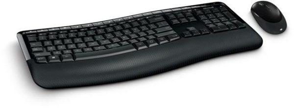 buy microsoft pp400018 5050 wireless comfort desktop curved keyboard mouse price. Black Bedroom Furniture Sets. Home Design Ideas