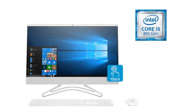 HP 24-F0000NE All-in-One Desktop - Core i5 1.6GHz 8GB 1TB+16GB 2GB Win10 23.8inch FHD Snow White