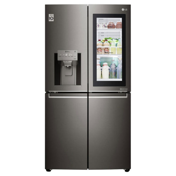 buy lg instaview door in door side by side refrigerator. Black Bedroom Furniture Sets. Home Design Ideas