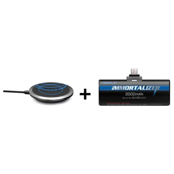 Iwalk ADA007N Wireless Charger+ DBI001M Immortalizer Power Bank