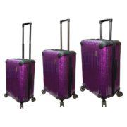 Highflyer T1000 Trolley Luggage Bag Purple 3pc Set TH1000PPC3PC