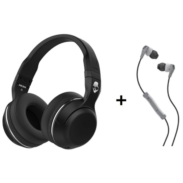 ef179830ad6 Skullcandy Hesh 2.0 Bluetooth Headphone S6HBGYMT + S2CD Method Wired In Ear  Headset