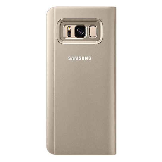 Samsung Clear View Standing Cover Gold For Galaxy S8+