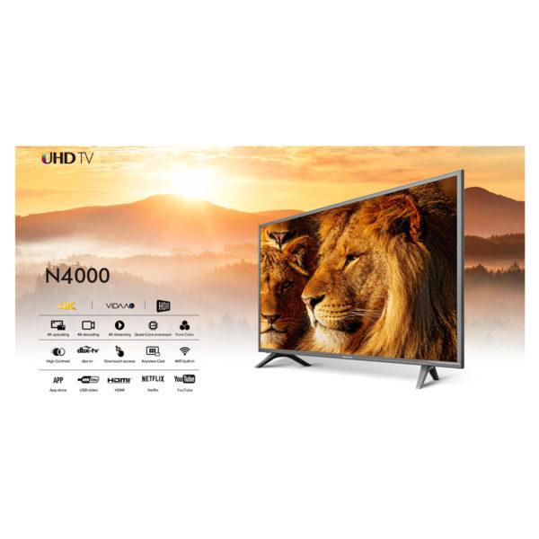 Buy Hisense 55N4000UW 4K UHD Smart LED Television 55inch – Price