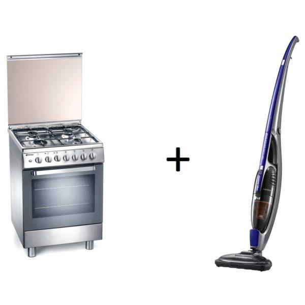 Tecnogas 4 Gas Burners Cooker L664GX + LG VS8403C Handstick Vacuum Cleaner