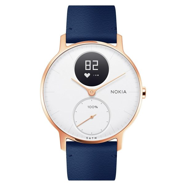 Nokia HWA03 Steel HR Watch 36mm White/Blue