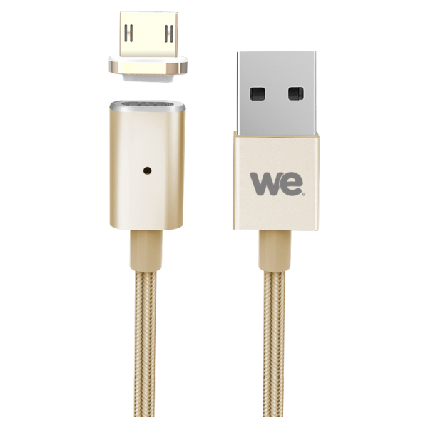 We Magnetic Micro USB Cable 1.2M Gold