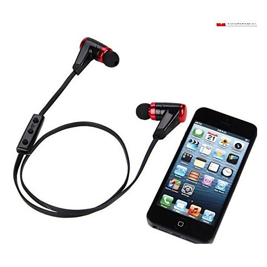 Nushh Go Bluetooth In Ear Sports Headset Red/Black