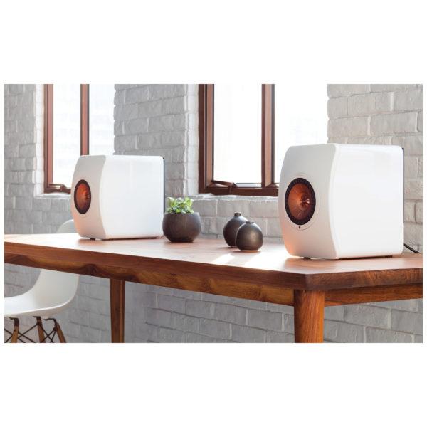 KEF LS50 Wireless Bookshelf Speaker - White (Pair)