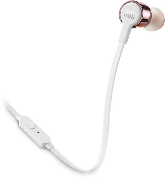 JBL T210 In Ear Wired Headphone Rose Gold