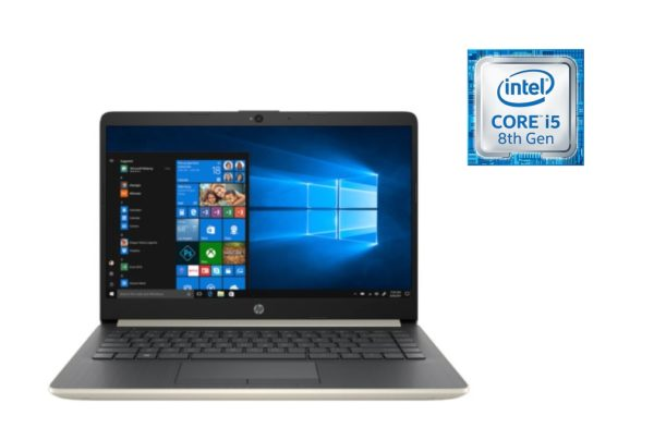 HP 14-CF0005NE Laptop - Core i5 1.6GHz 8GB 1TB 2GB Win10 14inch FHD Pale Gold